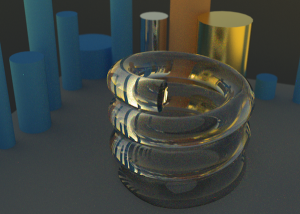 LuxRender using Mirror and Gold Metal Materials