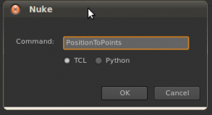 File > Script Command [X] > PositionToPoints