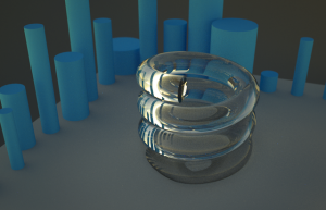 Shiny Bling made in Lux Render after 60 minutes of playtime